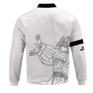 Dragon Ball Super Just Goku Nike Inspired Bomber Jacket