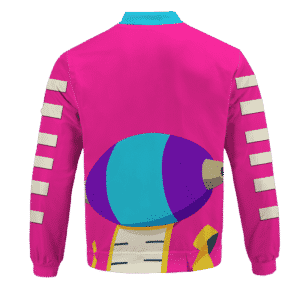 Dragon Ball Super Pink Zeno Symbol Art Bomber Jacket