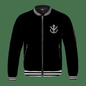 Dragon Ball Super Saiyan Crest Metallic Logo Black Bomber Jacket