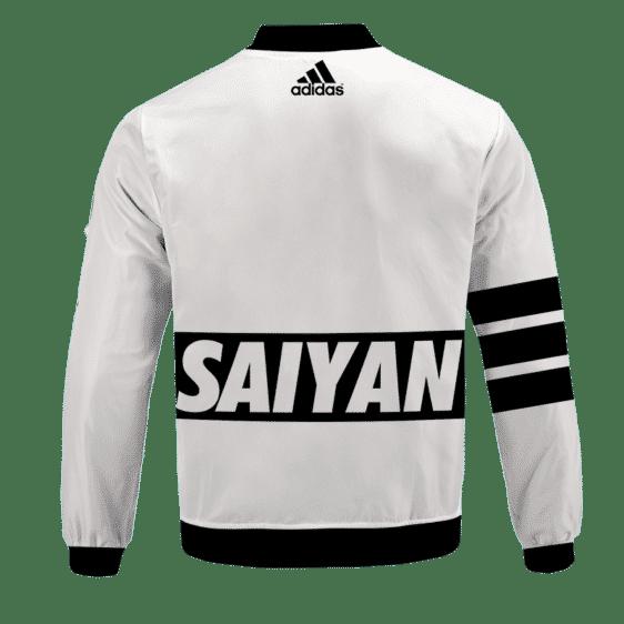 Dragon Ball Super Saiyan Goku Adidas Inspired Bomber Jacket