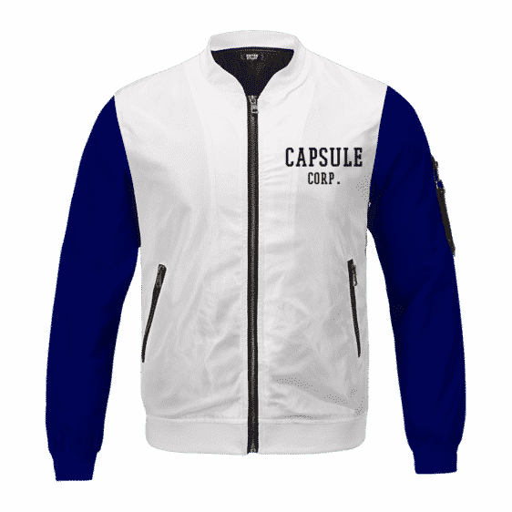 Dragon Ball Teen Future Trunks Capsule Corp Cosplay Bomber Jacket
