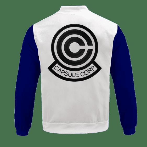 Dragon Ball Teen Future Trunks Capsule Corp Cosplay Bomber Jacket Back