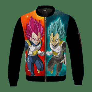 Dragon Ball Vegeta Super Saiyan God And Blue Black Minimalist Bomber Jacket
