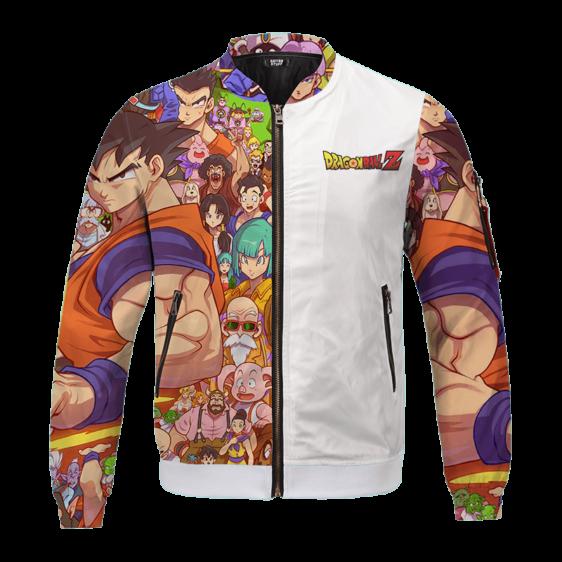 Dragon Ball Z All Characters Goku Family Art Bomber Jacket