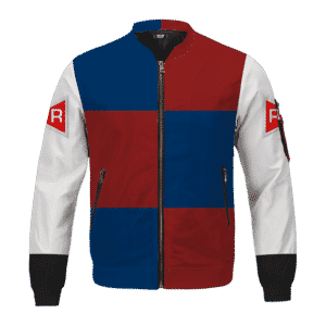 Dragon Ball Z Android 21 Red Ribbon Army Cosplay Bomber Jacket