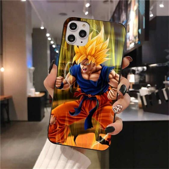 Dragon Ball Z Animated Goku iPhone 12 (Mini, Pro & Pro Max) Cover
