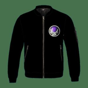 Dragon Ball Z Frieza Chilling Minimalist Black Bomber Jacket