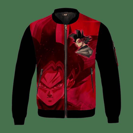 Dragon Ball Z Goku Black Awesome Red Bomber Jacket