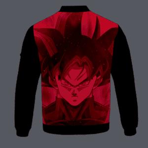 Dragon Ball Z Goku Black Awesome Red Bomber Jacket - back