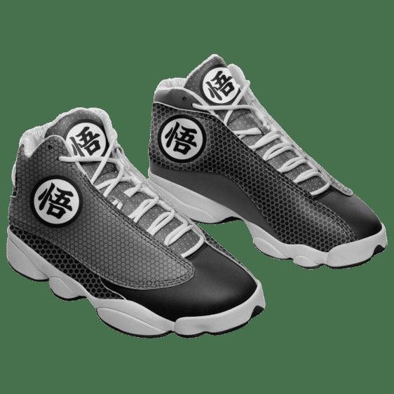 Dragon Ball Z Goku's Kanji Black and Grey Basketball Sneakers