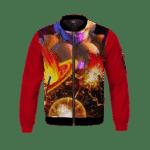 Dragon Ball Z Golden Frieza Blows A Planet Bomber Jacket