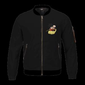Dragon Ball Z Just Do It Kid Goku Nimbus Black Simple Bomber Jacket