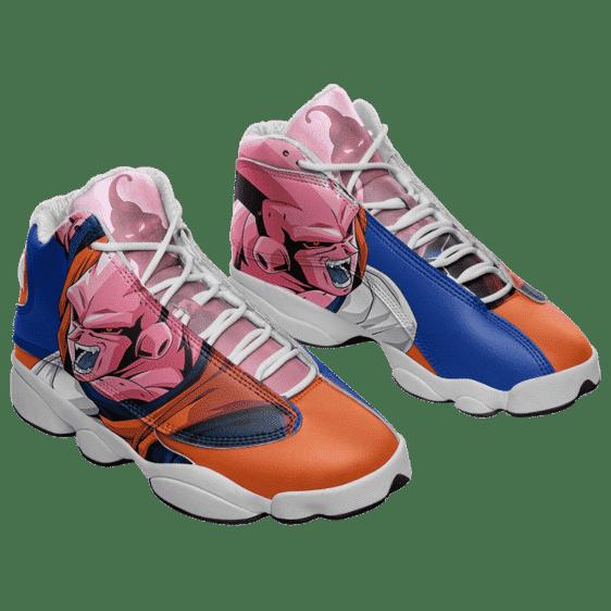 Dragon Ball Z Majin Buu Blue Orange Cool Basketball Shoes - Mockup 1