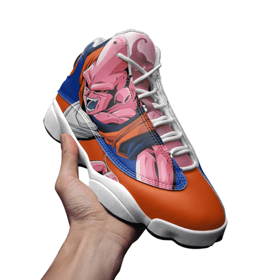 Dragon Ball Z Majin Buu Blue Orange Cool Basketball Shoes - Mockup 3
