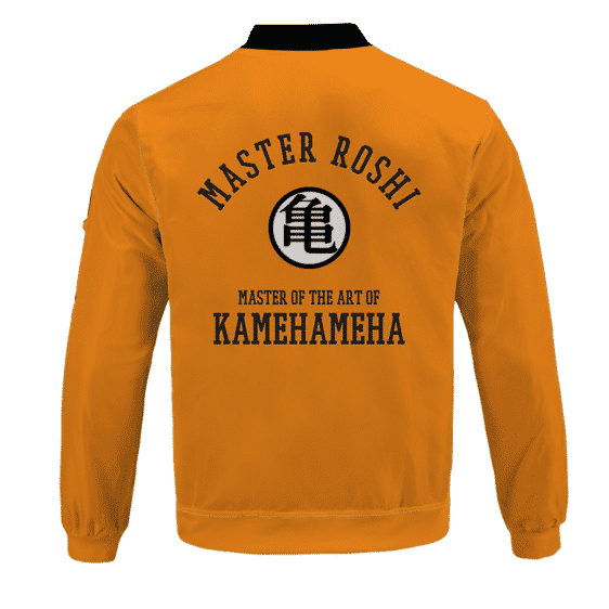 Dragon Ball Z Master Roshi Punch Turtle Kanji Bomber Jacket