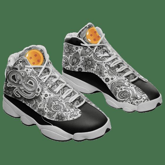 Dragon Ball Z Shenron Floral Pattern Basketball Sneakers