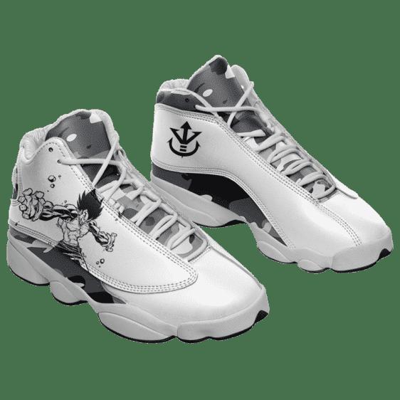 Dragon Ball Z Super Saiyan Prince Vegeta Camo Style Basketball Sneakers