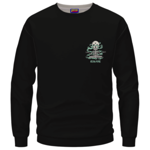 Escape Dope Art Skull Smoking 420 Marijuana Crewneck Sweatshirt
