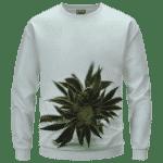 Green Cannabis Sativa Plant 420 Weed Marijuana Sweatshirt
