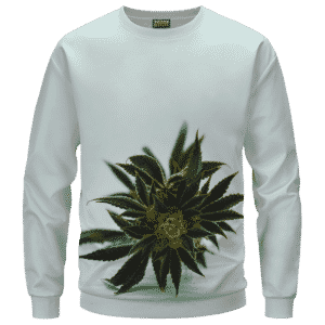 Green Cannabis Sativa Plant 420 Weed Marijuana Sweatshirt