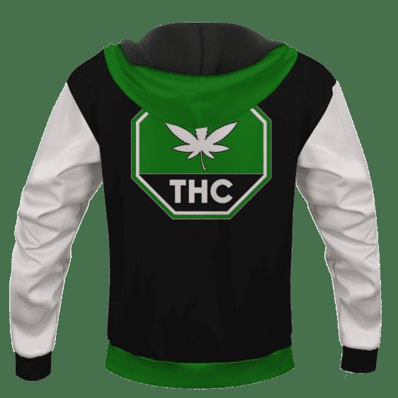 Green THC Contaminated Cannabis Marijuana Themed Hoodie