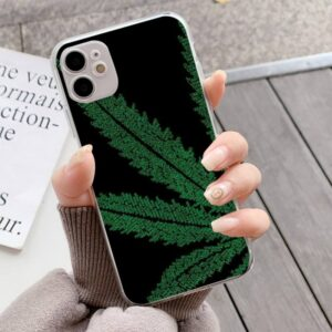 Half Marijuana Leaf iPhone 12 (Mini, Pro & Pro Max) Case