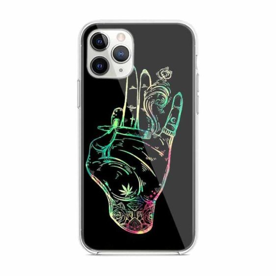 Hand Holding Joint Black iPhone 12 (Mini, Pro & Pro Max) Case