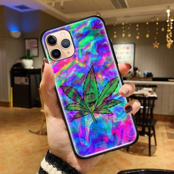 Happy High Cannabis Leaf iPhone 12 (Mini, Pro & Pro Max) Case