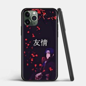 Itachi Uchiha Red Cherry Blossom Black iPhone 12 Case
