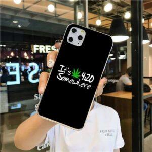 It's 420 Somewhere Black iPhone 12 (Mini, Pro & Pro Max) Case