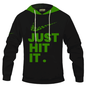 Just Hit It Nike Inspired 420 Marijuana Adult Pullover Hoodie