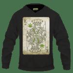 King Of Marijuana Card Awesome 420 Weed Black Hoodie