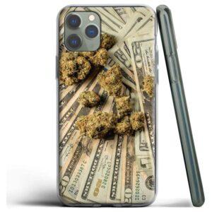 Kush & 20 Dollar Bills iPhone (Mini, Pro & Pro Max) Cover