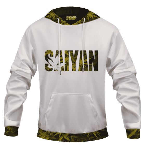 Kush Collective Marijuana Saiyan Logo Awesome 420 Hoodie