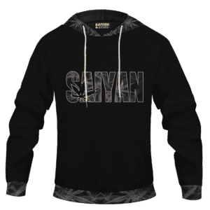 Kush Collective Marijuana Saiyan Logo Black Awesome Hoodie