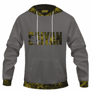 Kush Collective Marijuana Saiyan Logo Grey Awesome 420 Hoodie