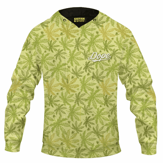 Marijuana Breezy Seamless Pattern Hemp Awesome Hoodie