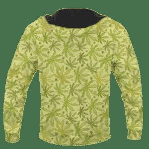 Marijuana Breezy Seamless Pattern Hemp Awesome Hoodie - BACK