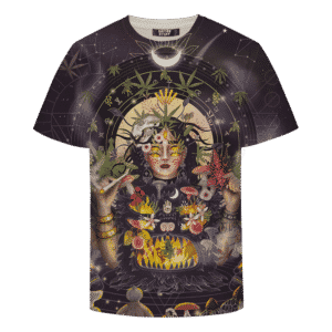 Marijuana Cool Digital Art Smoking Joint Trippy All Over Print T-shirt