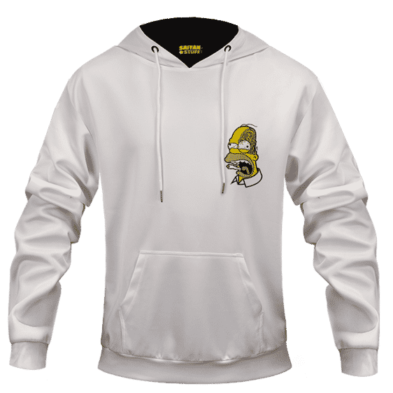 Marijuana Enthusiast Stoned Homer Simpson Awesome White Hoodie