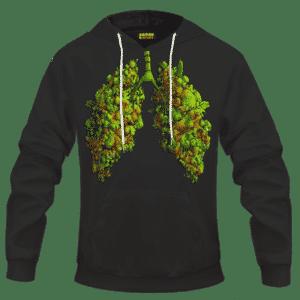 Marijuana Hemp Weed Cool Lungs 420 Awesome Hoodie