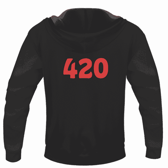 Marijuana Hemp Weed Cool Lungs 420 Awesome Hoodie - back