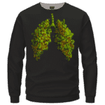 Marijuana Hemp Weed Cool Lungs Awesome Crewneck Sweatshirt