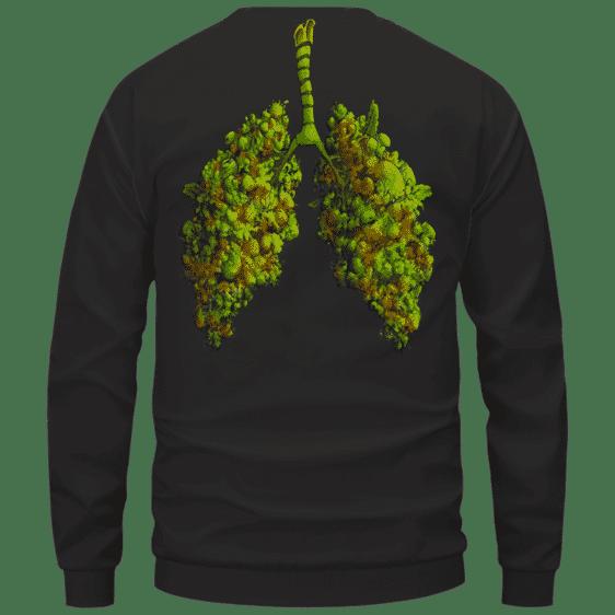 Marijuana Hemp Weed Cool Lungs Awesome Crewneck Sweatshirt - Back Mockup
