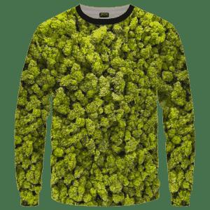 Marijuana Kush Nugs All Over Print Awesome Crewneck Sweater