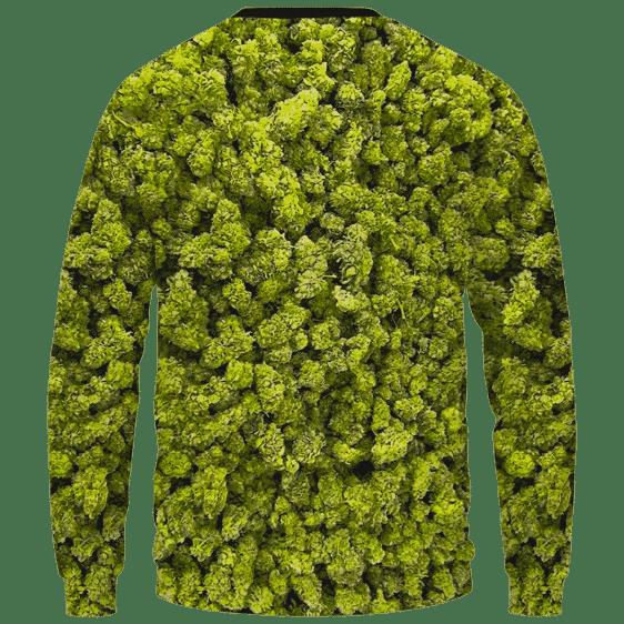 Marijuana Kush Nugs All Over Print Awesome Crewneck Sweater - Back Mockup