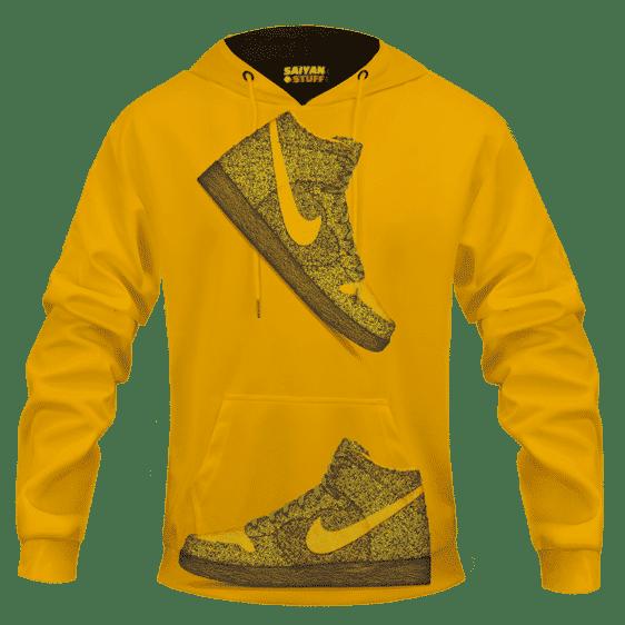 Marijuana Nike Inspired Air Jordan Sneaker Head Orange Hoodie