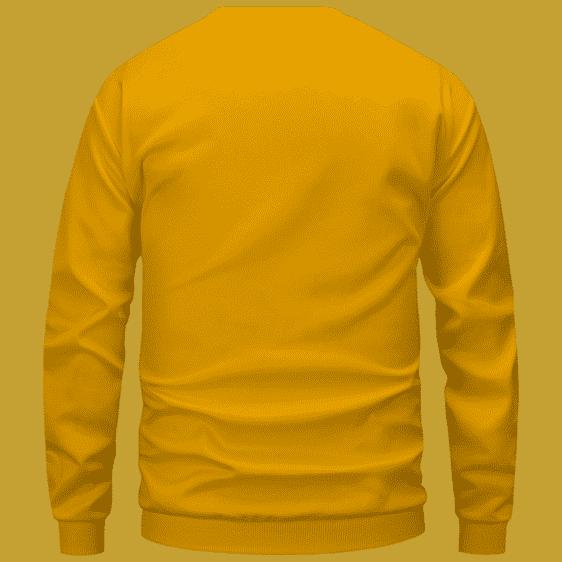 Marijuana Nike Inspired Air Jordan Sneaker Head Orange Sweater - Back Mockup