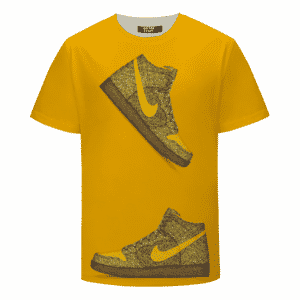 Marijuana Nike Inspired Air Jordan Sneaker Head Orange T-shirt