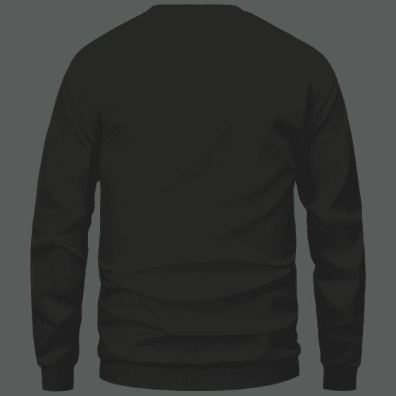 Marijuana Weed Adidas Addicted Logo Black Sweatshirt - Back Mockup